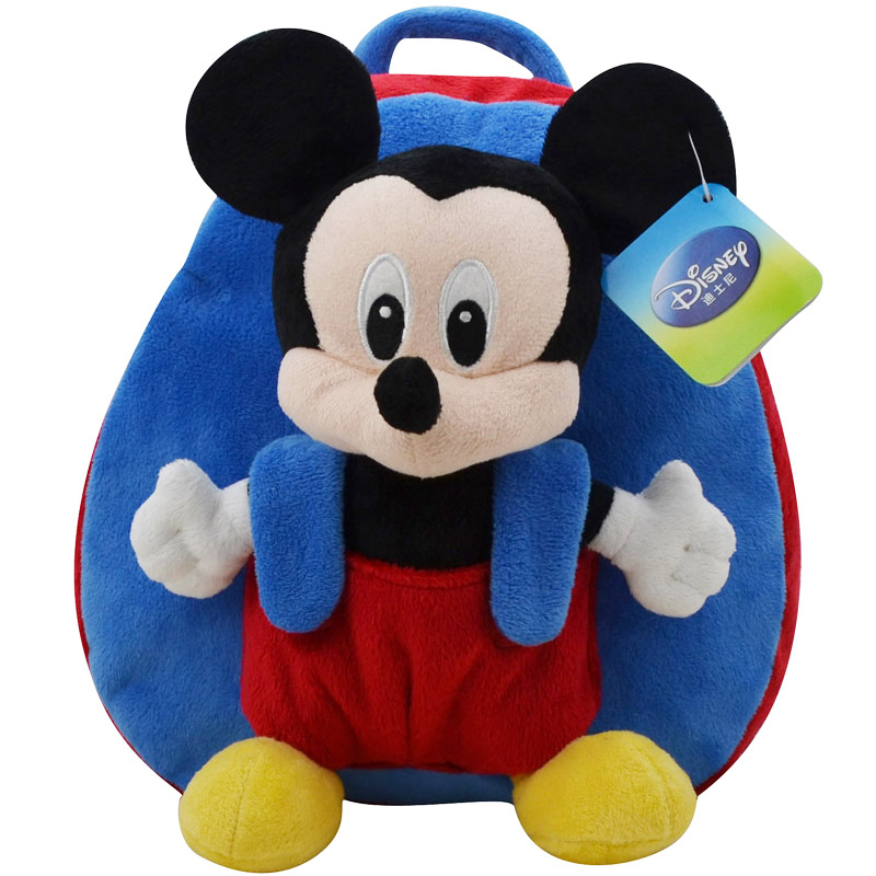 0ed913a8bf7 Disney Backpack School Bag Plush Toys Winnie The Pooh Mickey Mouse Minnie  Stuffed Doll Birthday Gift For Children-in Stuffed   Plush Animals from Toys  ...