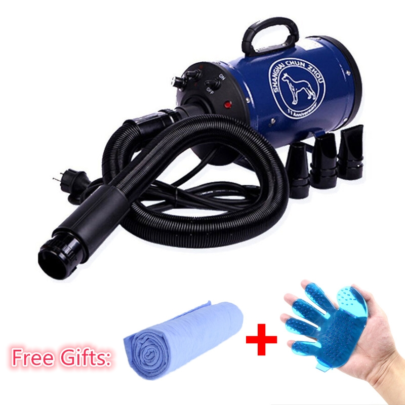 2018 Cheap Dog Grooming Dryer bs2400 Pet Hair Dryer Blower 220v/110v 2400w Eu Plug Pink Blue Color fast to russian