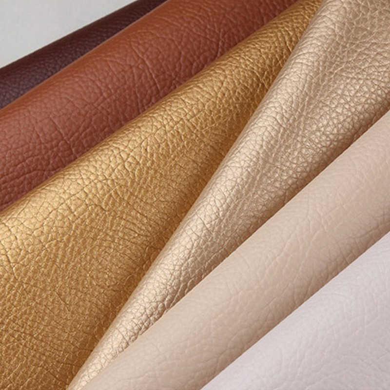 50x135cm Grote size lederen patch Zelfklevende Stick-on Geen Strijken Sofa Repareren Leer PU Stof stickers Patches Plakboek