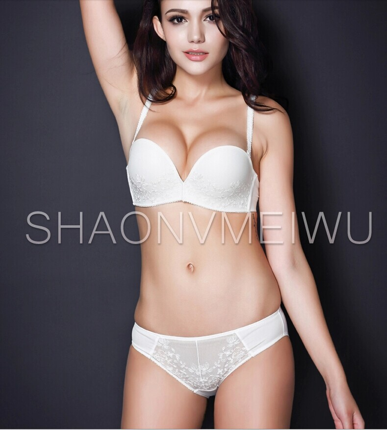 Underwear Set Women Bra Fashion Strapless For Dress Wedding Convertible Straps Invisible Slip Half Cup In Brief Sets From