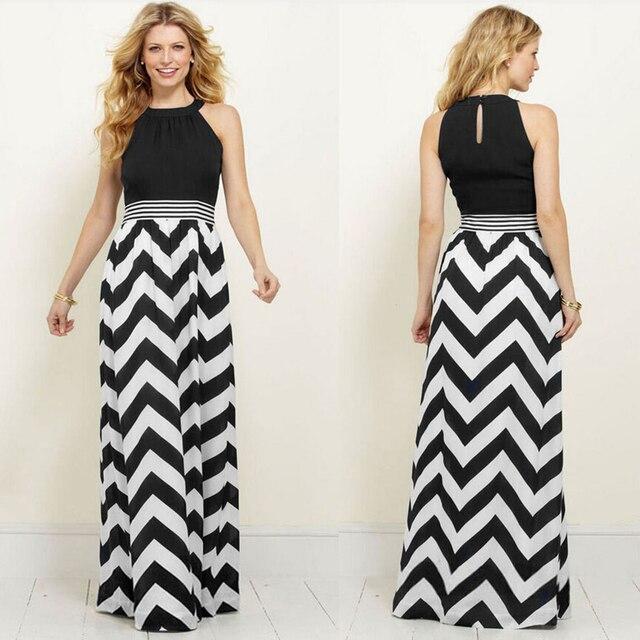 Robes longues noir et blanc