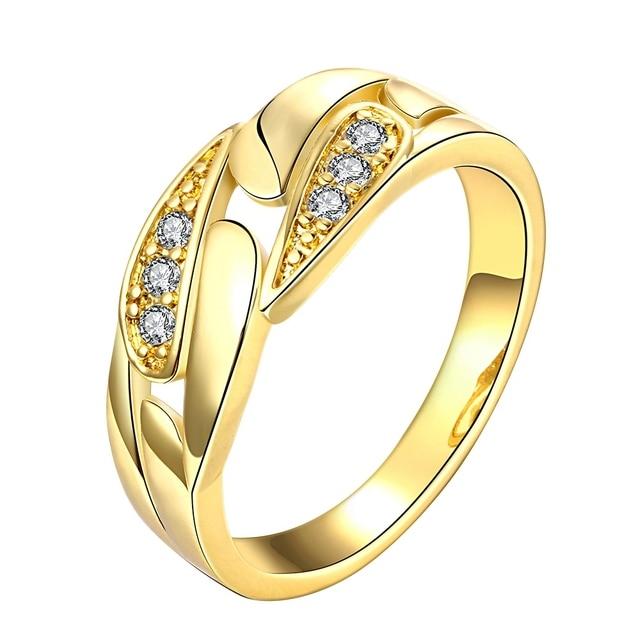 Best Selling Bijoux Fashion Genuine Austrian Crystal Ring GoldRose
