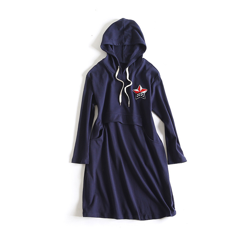 Autumn Hoodie Dress For Pregnant Women Plus Size Hoodies Sequins