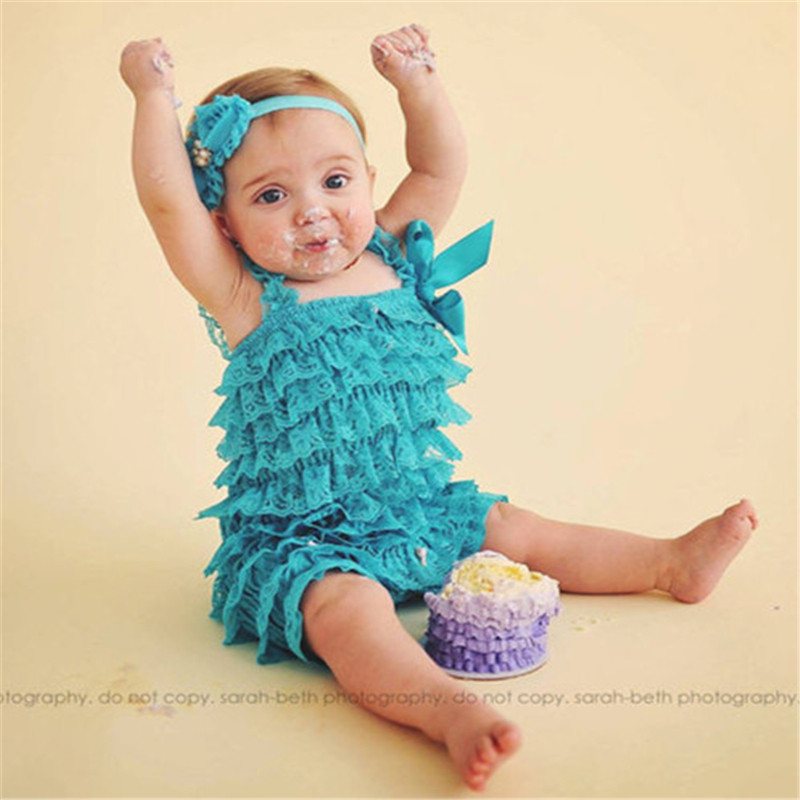 8dfa7f722 New Newborn Baby Clothes Vintage Baby Girls Lace Petti Romper Ruffle ZL32