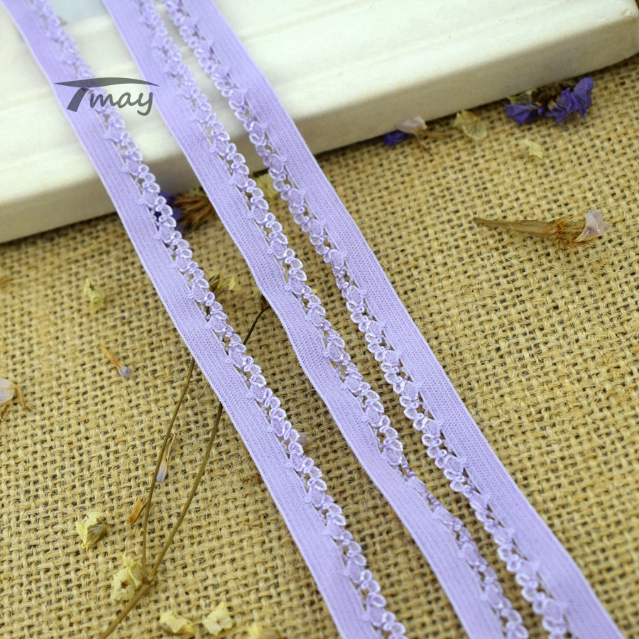 #228 Lilac Elastics Classic Pattern 8yards Stretch Elastic Lace Trim Baby Underwear Pants Bra Lace Clothing Trousers Rubber Band