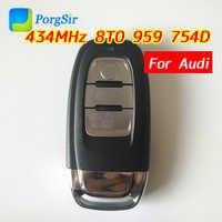 3 ปุ่ม 434 เมกะเฮิร์ตซ์ไม่สมาร์ทประเภทรีโมทคอนโทรลคีย์ PCF7945 HITAG (VGA) ชิปสำหรับ Audi A4L Q5 FCCID: 8T0 959 754D
