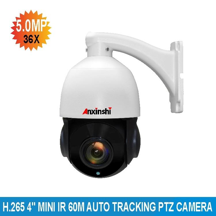 H.265 Nerwork 5.0MP IMX335 CMOS 36X zoom ottico 3D DNR starlight illuminazione bassa IR 100 M onvif p2p Auto Tracking PTZ Macchina Fotografica del IP
