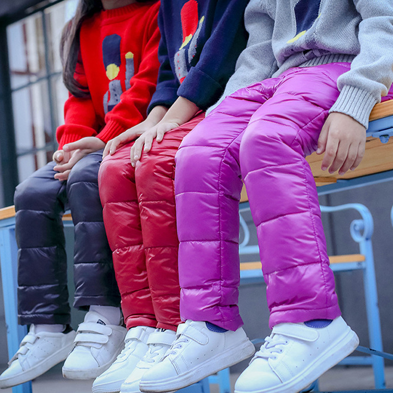 цена на Boys Pants Girls Leggings Children Pants For Girls Winter Children Clothes Down Autumn kids Clothes Boys Clothing Child 2018