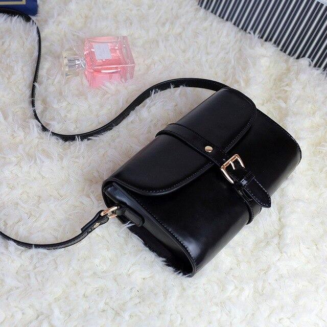 3f659ca0eb81 High Quality Women Messenger Bags Genuine Leather Shoulder Bag for Ladies  Girls Retro Crossbody Bag Female Sling Bag Black Brown