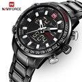 NAVIFORCE Top Marke Luxus Herren Uhren Mode Casual Sport Armbanduhr Dual Display Datum Uhr Armee Militär Relogio Masculino-in Quarz-Uhren aus Uhren bei