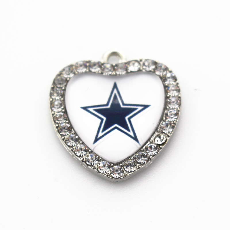 10pcslot crystal heart dallas cowboys charm team hanging charms 10pcslot crystal heart dallas cowboys charm team hanging charms sports dangle charms diy braceletnecklace jewelry accessory in charms from jewelry aloadofball Images