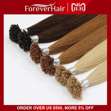 "FOREVER HAIR 0.8g/s 16""18"" 20"" Remy Pre Bonded Human Hair Extension Silky Straight Professional Salon Fusion Colorful Hair Style(China)"