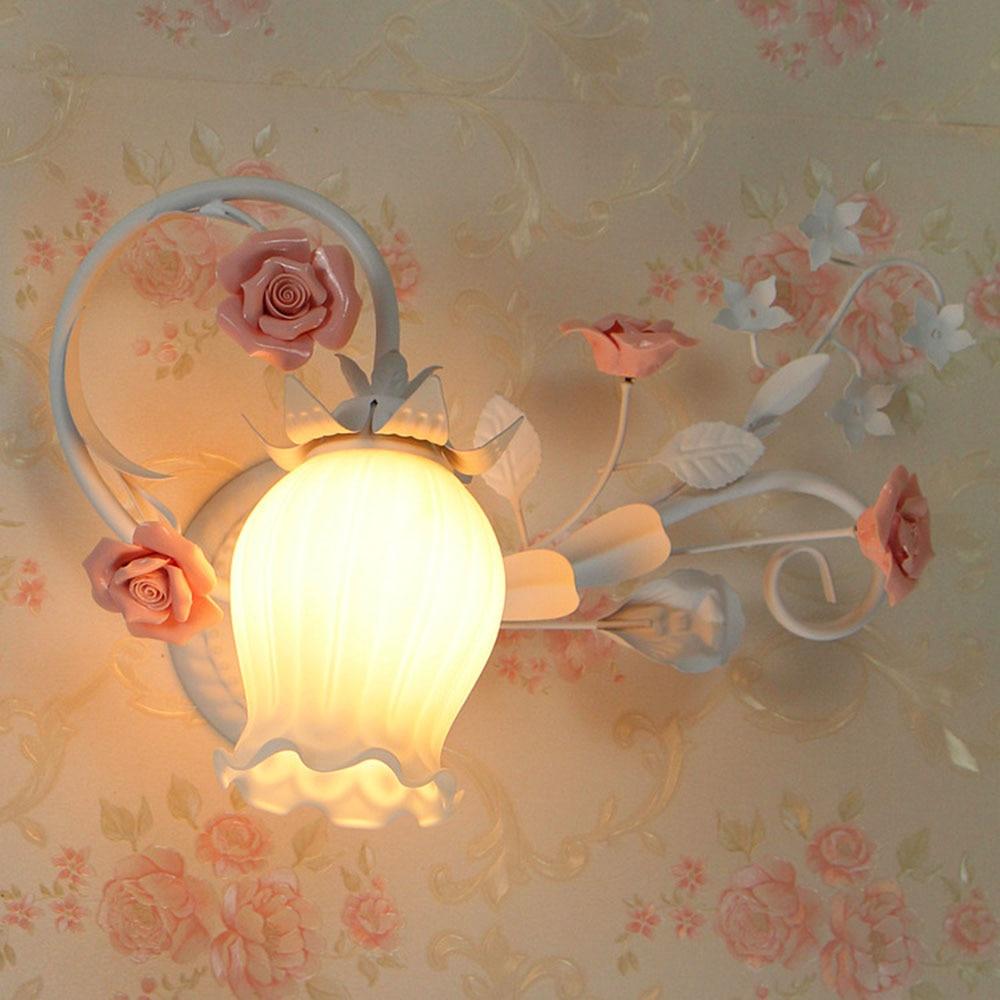 Led Wall Light 110-220V Wall Mounted Bedside Lamps Luminarias Loft Home Lighting Bedside Reading Flower Lamp