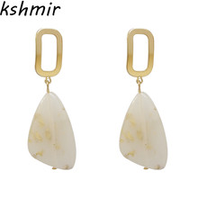 Geometric  earrings women statement 2018 fashion jewelry wholesale