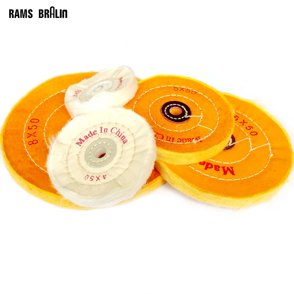 3-12 Cotton Lint Cloth Buffing Wheel Gold Silver Jewelry Mirror Polishing Wheel