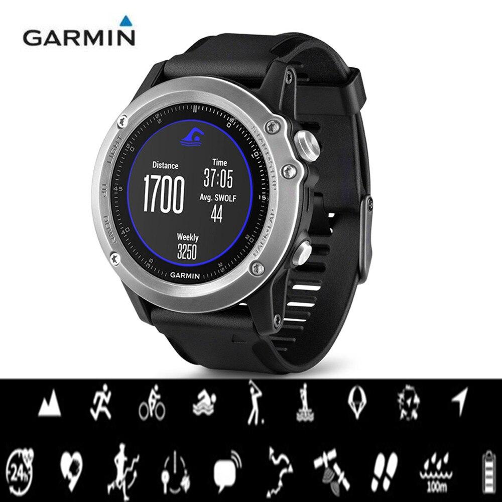 Garmin Fenix 3 HR Smart Watch Bluetooth 4.0 100m Waterproof 1.2 Inch Sports Smart Watch All-Weather Optical Heart Rate Monitor цены онлайн