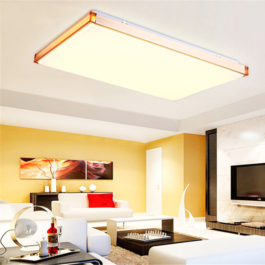 Modern LED Ceiling Lights For Living Room Bedroom Office 64W Warm Cold White Home Ceiling Lamp