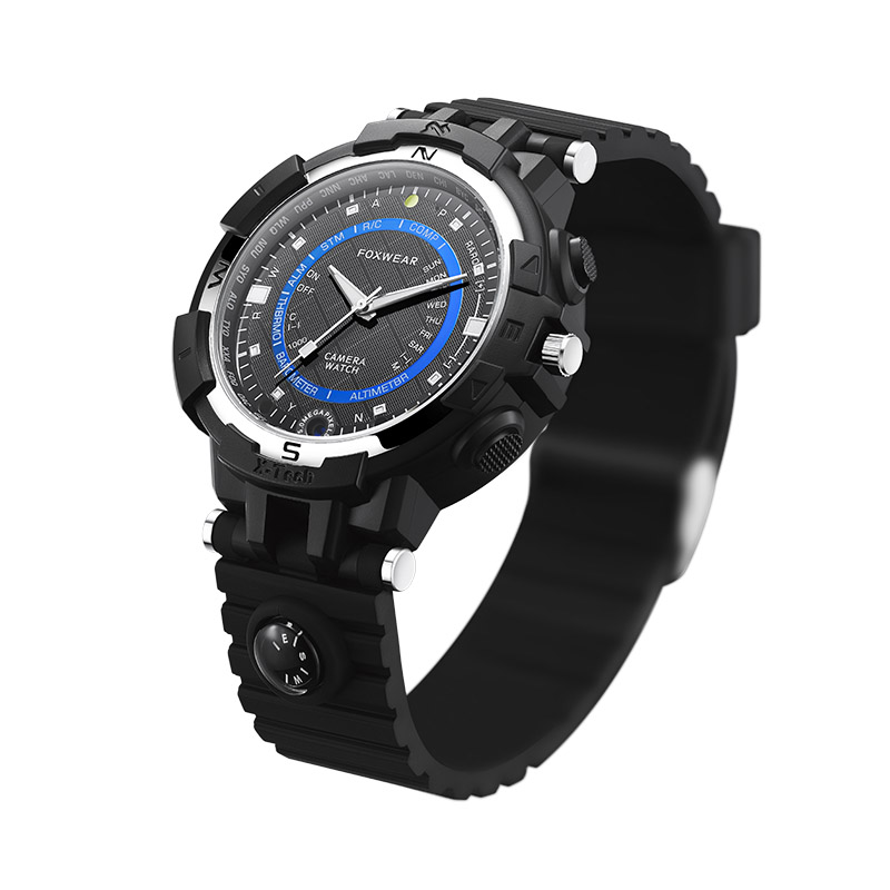 Hot sell Foxwear FOX8 Capacity Daily Waterproof WiFi Camera Smart Watch with Compass, Support Remote Control / P2P Control