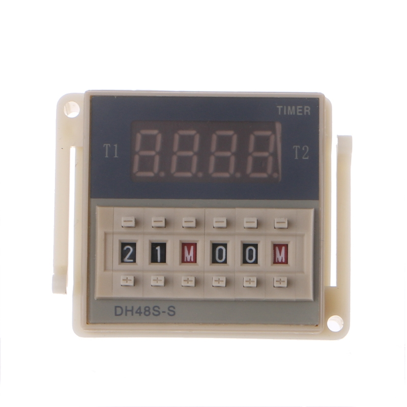 цена на AC/DC 12/24V Multifunction Digital Timer Relay On Delay 8 Pins SPDT DH48S-S Repeat Cycle