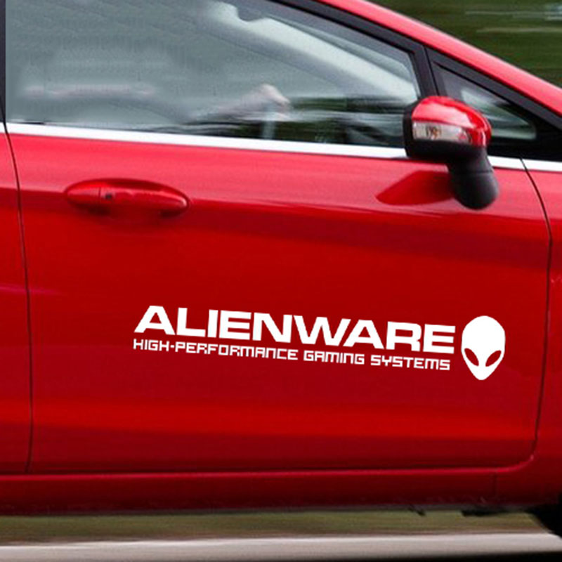 Car Styling ALIENWARE Extra Terrestrial Reflective Car Sticker For - Car decals designnew design full car body stickers for ford focus golf mg