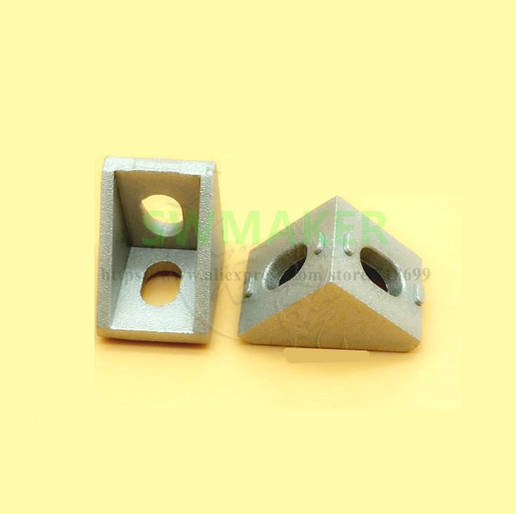 2020 Metalen Aluminium Hoeksteun Hoek Gewrichten 17*20 Voor 3d Printer Aluminium Profiel Extrusie 2020
