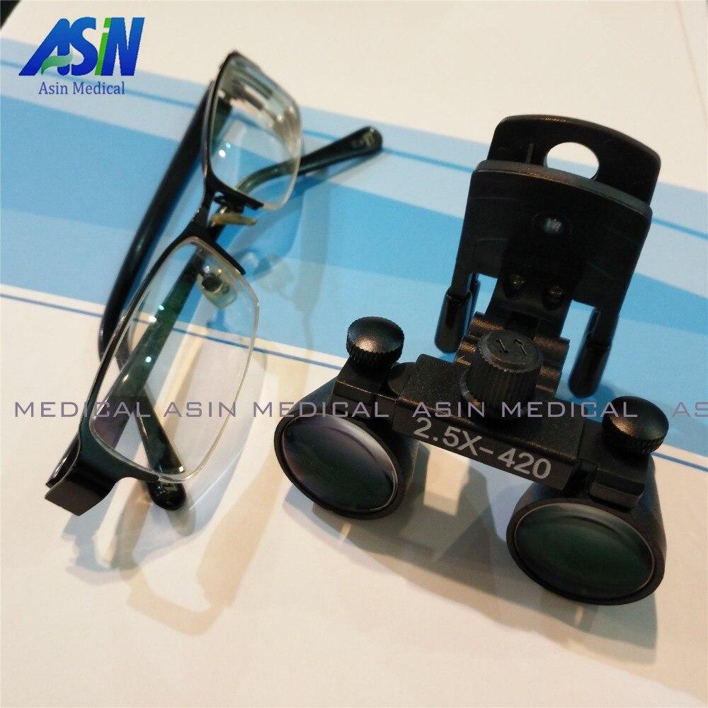 Новинка 2017 года зажим типа стоматологические лупы для медицинских Galileo Лупа с хирургической увеличительные стекла совместимы все виды очки