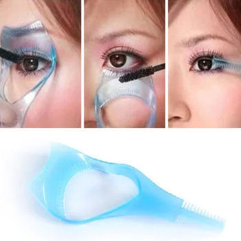 Aplikator do malowania oczu i rzęs 3w1