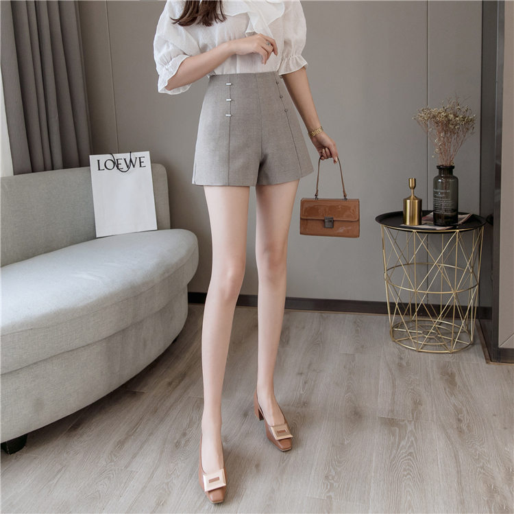 Summer Shorts For Women 2019 High Waist Casual Wide Leg Shorts Loose OL work Wear Solid Shorts 19