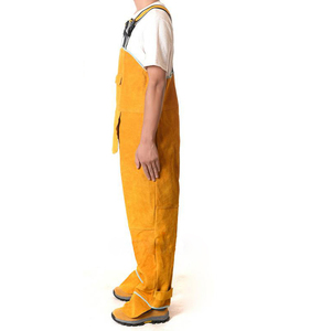 Image 5 - Welding Mens Overalls Safety Clothing Overalls High Temperature Protect Leather Flame Retardant Wear Repair Welding StrapDFW033