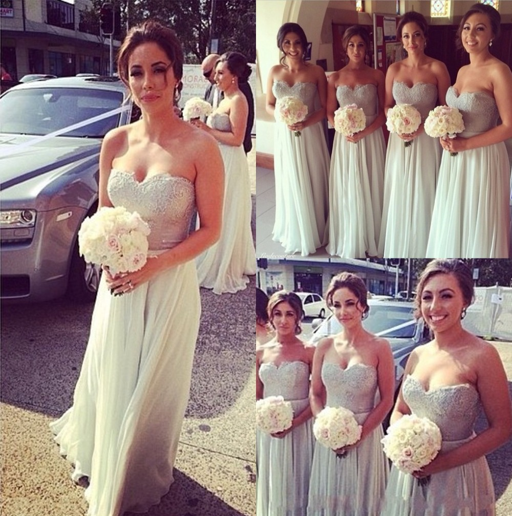 Shining Crystal Beaded Lace Bridesmaid Dresses Peach/Ivory/Pink/Red ...