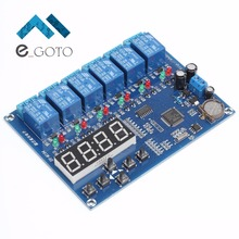 AC/DC 12V 5-Channel Relay Module 5-Way Digital Display Timer Time Controller Board 60s for Arduino