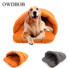 OWDBOB Pet Cat Dog Puppy Kennel Bed Sofa Polar Fleece Nest Mat Sleeping Bag House Winter Warm Cave