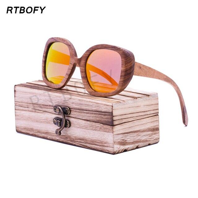 round Frame Bamboo wooden Sunglass 2016 Fashion Wooden Sunglasses Men Women Sun Glasses -BA-98