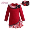 Pettigirl navidad niña vestido wtih bontique vendas y collar de flores de otoño infantil desgaste g-dmgd908-999
