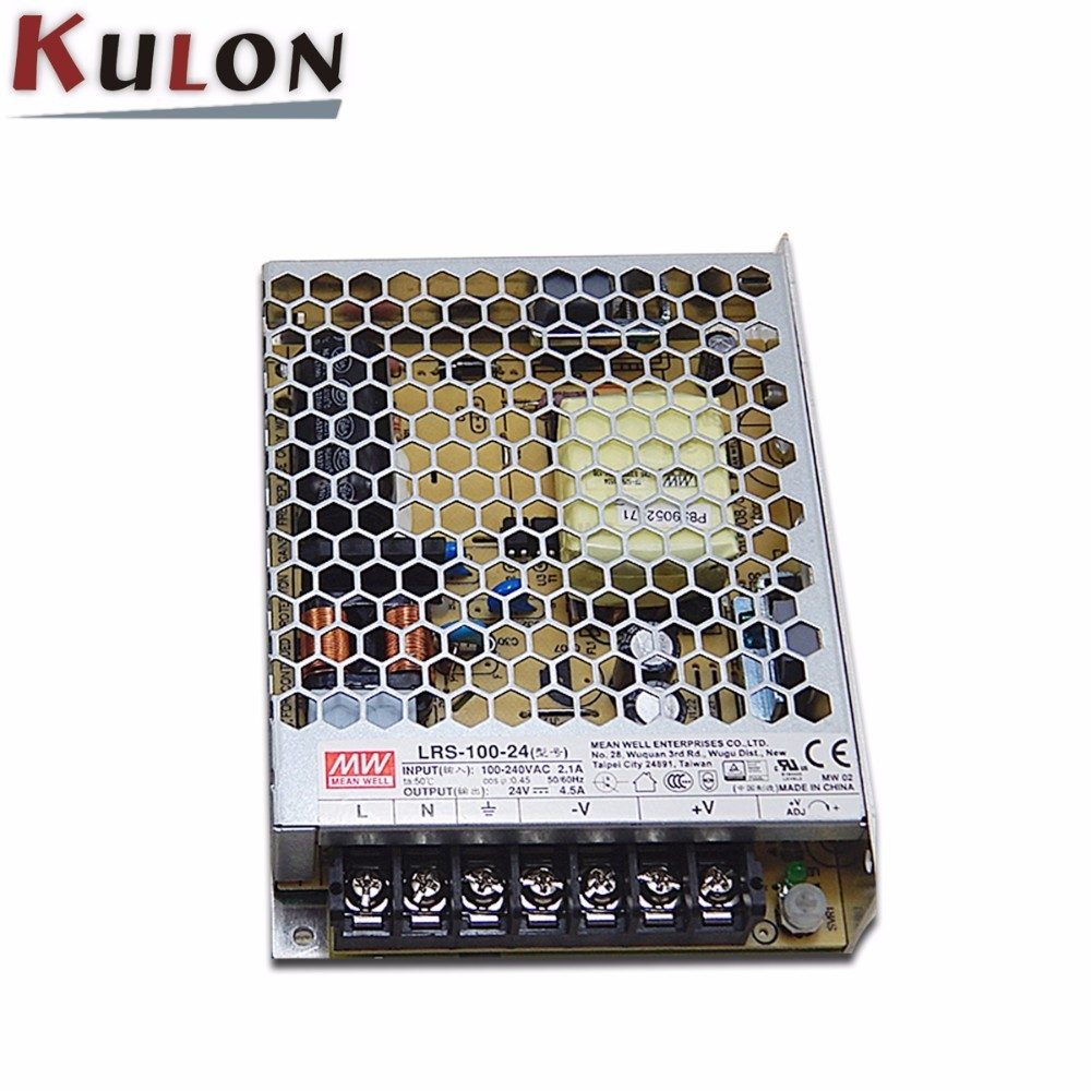Original MEAN WELL LRS-100 100W 12V 24V 36V 48V Switching Power Supply 100W 24V DC Single Output LED Driver mean well waterproof led power supply lpv series 100w single output led power supply 5v 12v 24vdc 100w switching power supply
