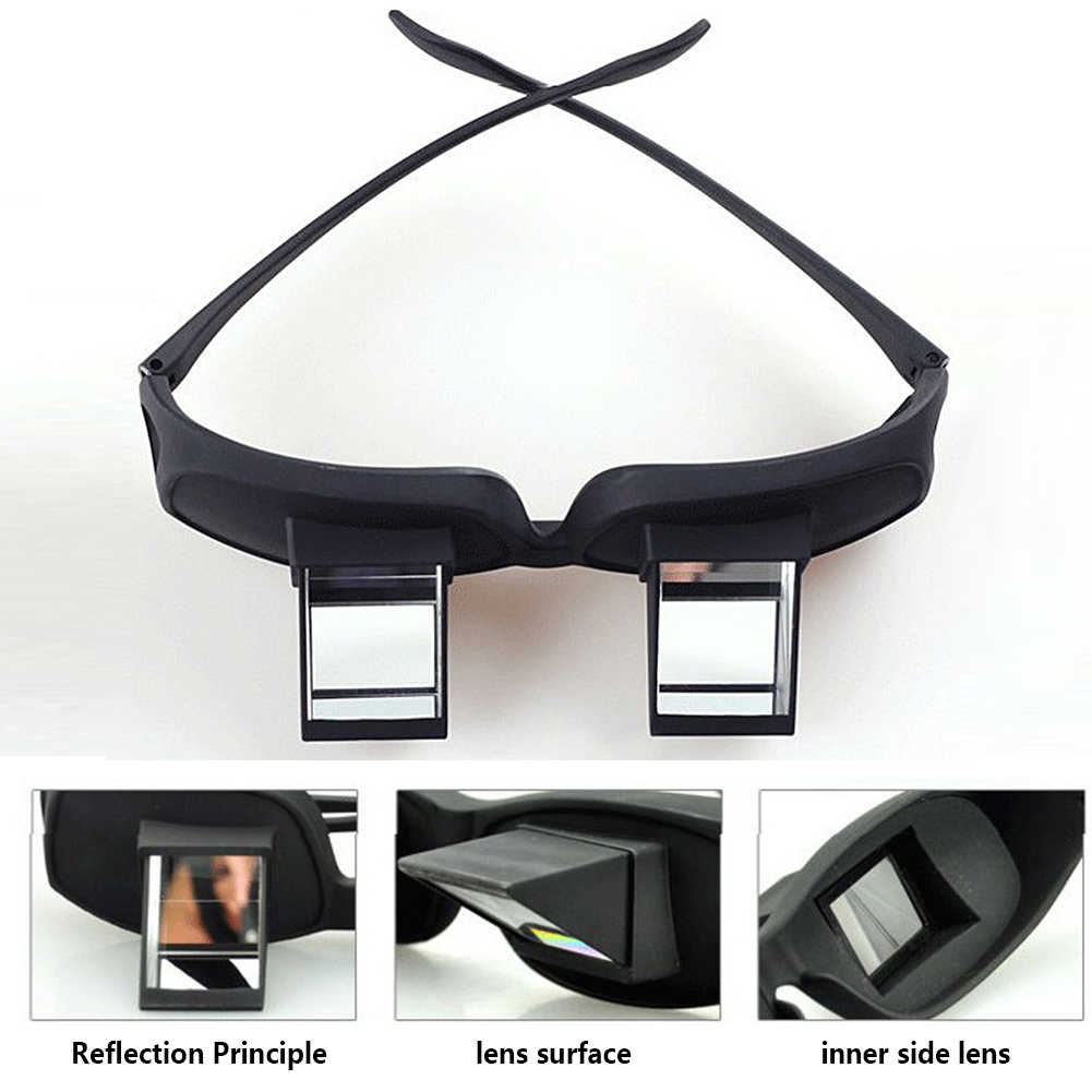 05535142aaee ... Creative Lazy Creative Periscope Horizontal Reading TV Sit View Glasses  On Bed Lie Down Bed Prism