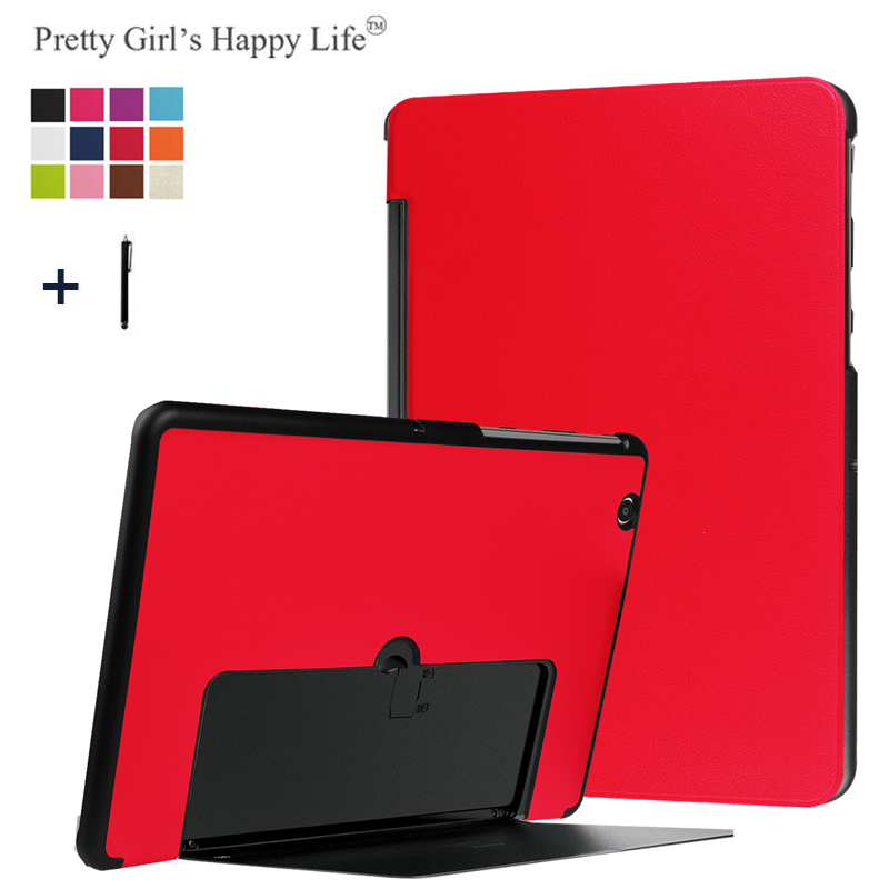For LG G Pad III 10.1 inch V755 Case Flip Stand Cover for LG Gpad X II 10.1 V755 Tablet Leather Capa Fundas Back Shell+Stylus
