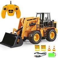 Boy love big bulldozer remote control engineering vehicle construction forklift children's toys beach toys truck excavator toys