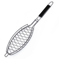 Grilled fish net bold tool barbecue grill accessories barbecue grilled fish stainless steel clip