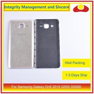 Image 5 - 10 pièces/lot pour Samsung Galaxy On5 2015 G550 G550F SM G550FY boîtier batterie porte arrière couverture boîtier châssis coque
