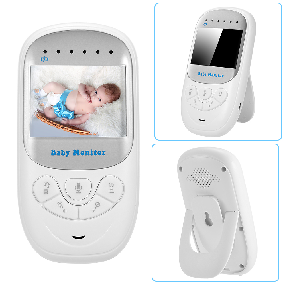 Babykam babyphone video vigila bebes 2.4 inch IR Night light Vision Intercom Temperature Monitor Lullabies Zoom baby phone nanny