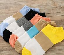 Free Shipping Women Cotton Socks 5 Candy Colored Female Casual Sock Patchwork Cute Ladies Cheap Good Quality S81