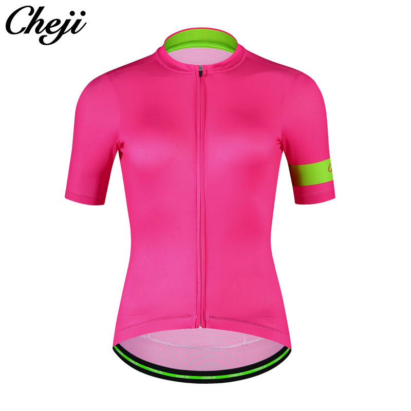 CHEJI 2018 Breathable Quick Dry Mtb Bike Jersey Short Sleeve Ladies Cycling Wear Ciclismo S-XXL Pro Team Cycling Clothing Women xintown women summer cycling wear short sleeve suit bike bicycle cycling clothing mtb shorts women s team cycling jersey sets