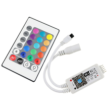 DC12V LED MIni WIFI  RGBW Controller with 24key remote IOS/Android Mobile Phone wireless for RGB / RGBW LED Strip free shipping