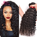 Indian Water Wave Virgin Hair 3 Bundles 8A Indian Curly Virgin Hair Indian Human Hair Weave Curly Indian Virgin Hair Water Wave