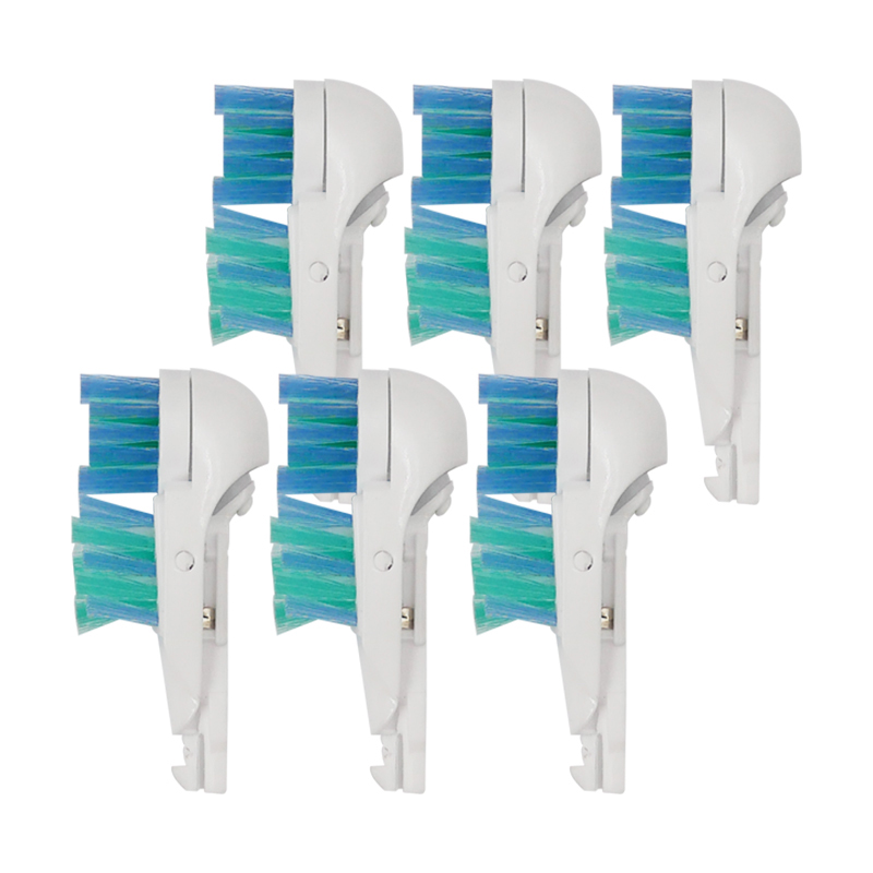 цены 6PCS Replacement toothbrush Heads for Braun Oral-B Pro-Health/Complete/3D White Battery Powered Electric Toothbrush