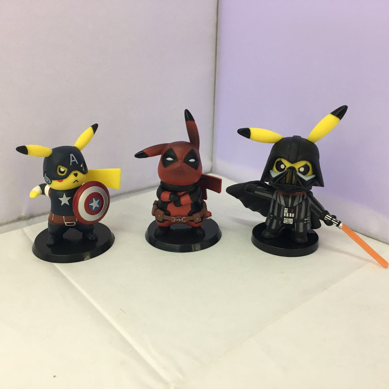 WVW 8-11CM Comic Hero Deadpool Pikachu DV Captain America Play Arts Model PVC Toy Action Figure Decoration For Collection Gift hot sale movie super cool deadpool action figure toy marvel deadpool display decoration doll collection children juguetes gift