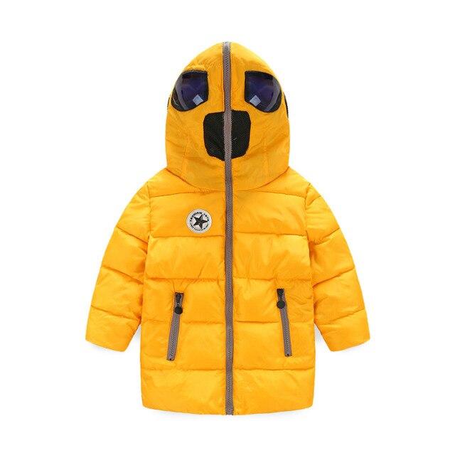 Новое прибытие мода повседневная мальчики зимняя куртка, детская одежда, длинный толстый капюшоном теплый мальчики зимнее пальто Для 4-10 Лет Мальчик Куртка