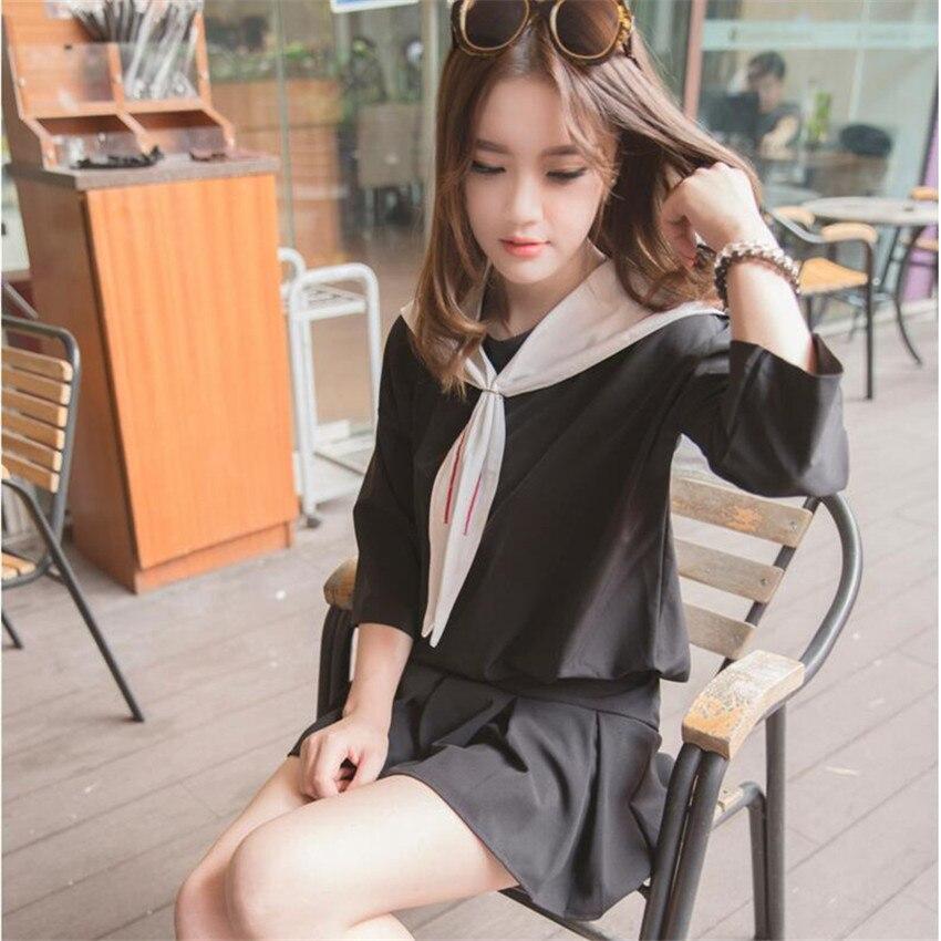 0e47ebcc08 Estudiantes traje sra. Falda plisada Scholl uniforme escolar japonés  uniforme escolar coreano uniforme japones Dolly falda en Uniformes escolares  de La ...