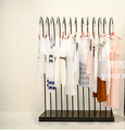 High-end clothing display shelf. Wrought iron clothes hanger.